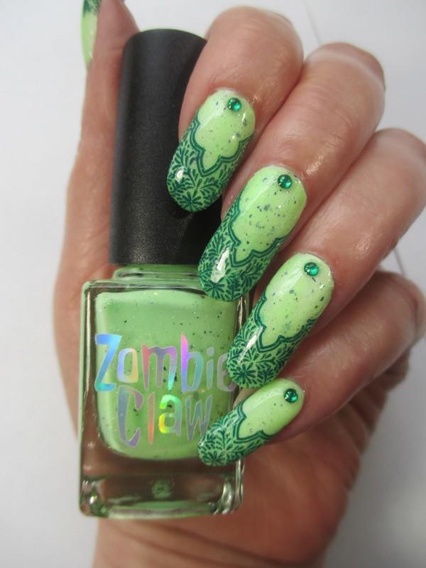 Zombie nail art by NinaB