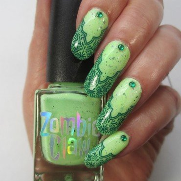 Zombie nail art by NinaB