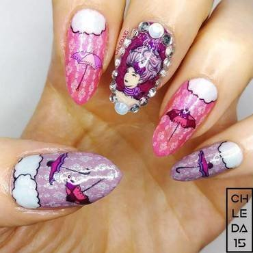 2019 #19 nail art by chleda15