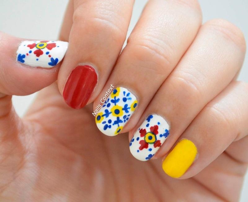 Mexican Tiles nail art by NailsContext