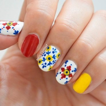 Mexican Tiles nail art by NailsContext