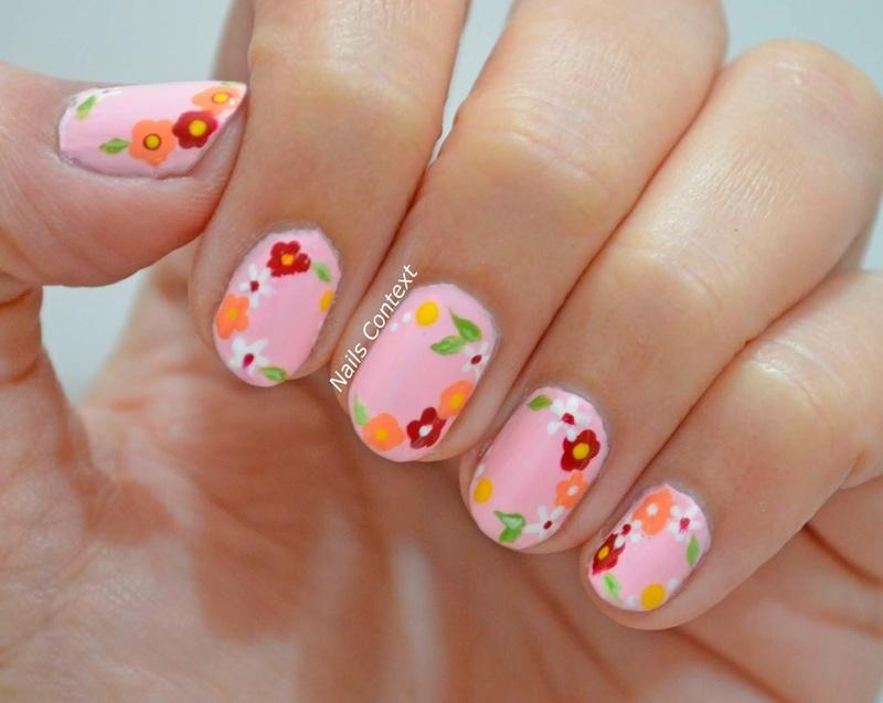 La Vie En Rose nail art by NailsContext