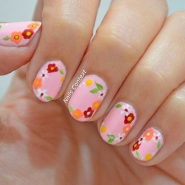 La Vie En Rose nail art by NailsContext