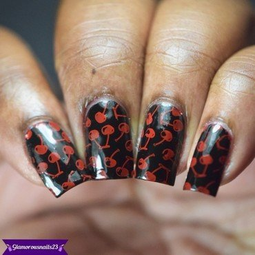 Cherries nail art by glamorousnails23