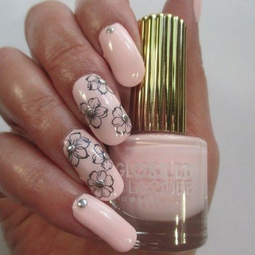 Pale Petals nail art by NinaB
