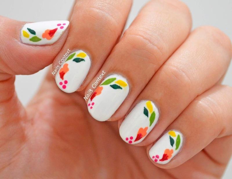 May Flowers  nail art by NailsContext