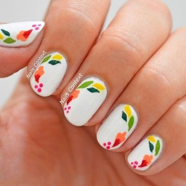 May Flowers  nail art by NailsContext