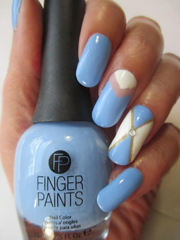 Heavenly nail art by NinaB