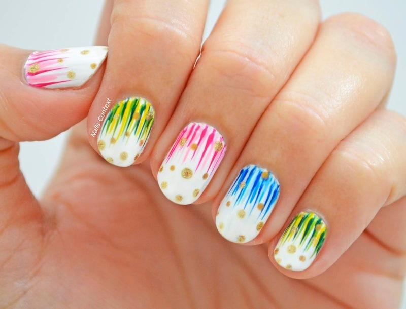 Waterfall Nails  nail art by NailsContext