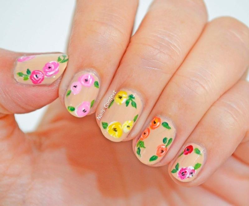 April showers bring May flowers  nail art by NailsContext