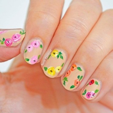 April showers bring May flowers  nail art by NailsContext