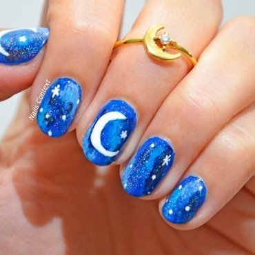 Eid Ka Chand  nail art by NailsContext