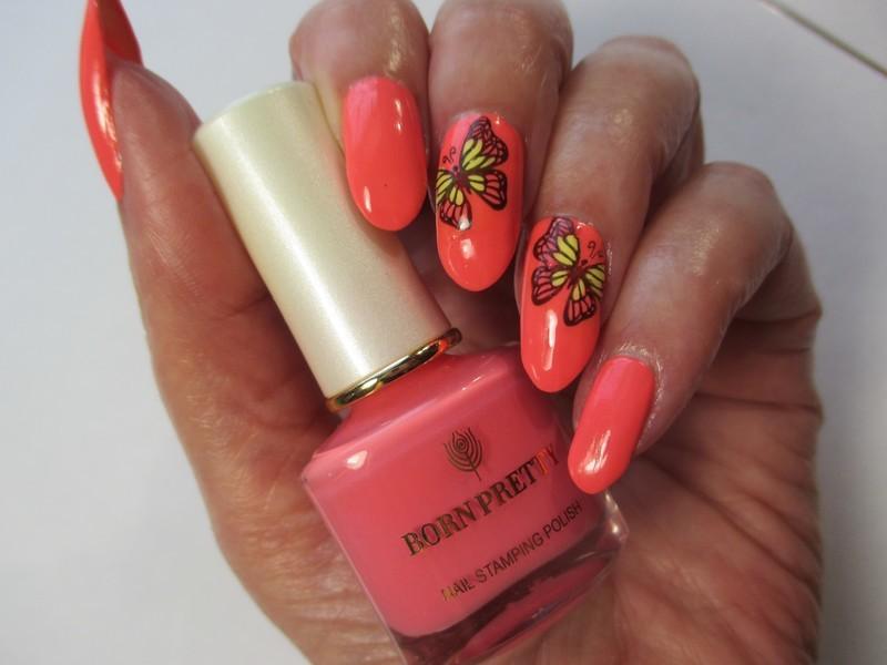 Butterfly Mood nail art by NinaB