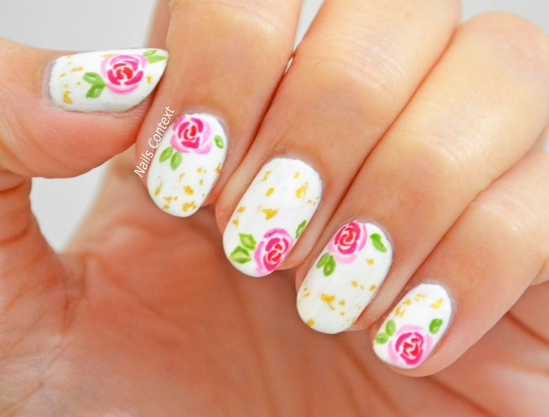 Rose Nails  nail art by NailsContext