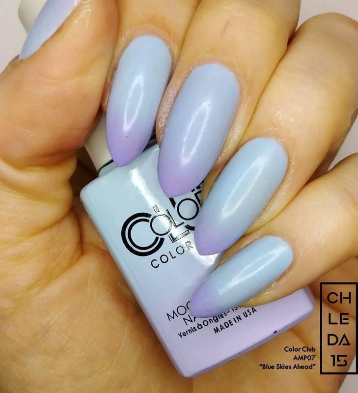 "Color Club AMP07 ""Blue Skies Ahead"" Swatch by chleda15"