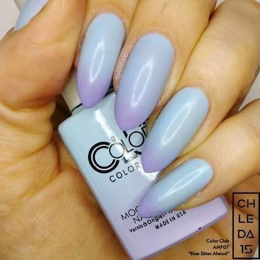 "Color Club AMP07 ""Blue Skies Ahead"" Swatch by chleda15"