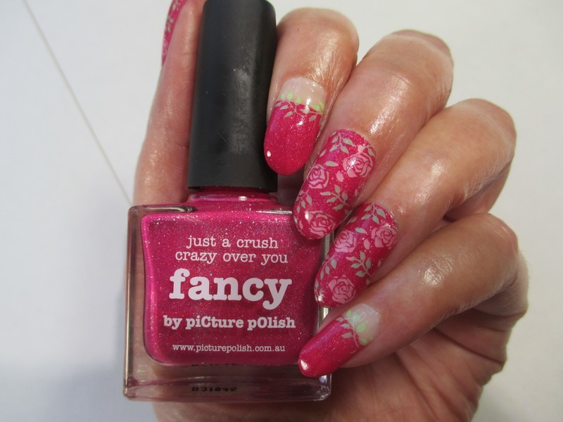 Fancy Roses nail art by NinaB