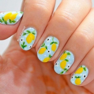 Lemon Nails  nail art by NailsContext
