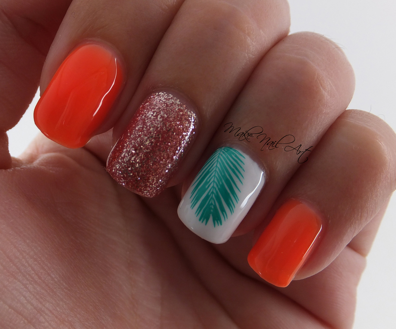 Neon Summer Gel Manicure nail art by Make Nail Art