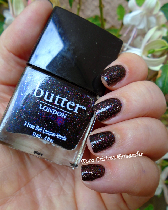 Butter London The Black Knight Swatch by Dora Cristina Fernandes