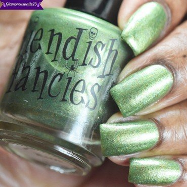 Fiendish Fancies Kaiju(LE) Swatch by glamorousnails23