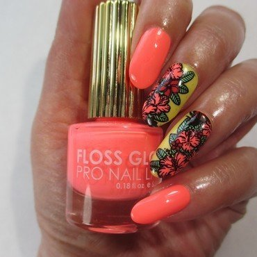 Tropical Neon nail art by NinaB