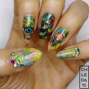 2019 #28 nail art by chleda15