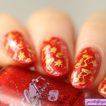 Wrapping paper nails nail art by Kerry_Fingertips