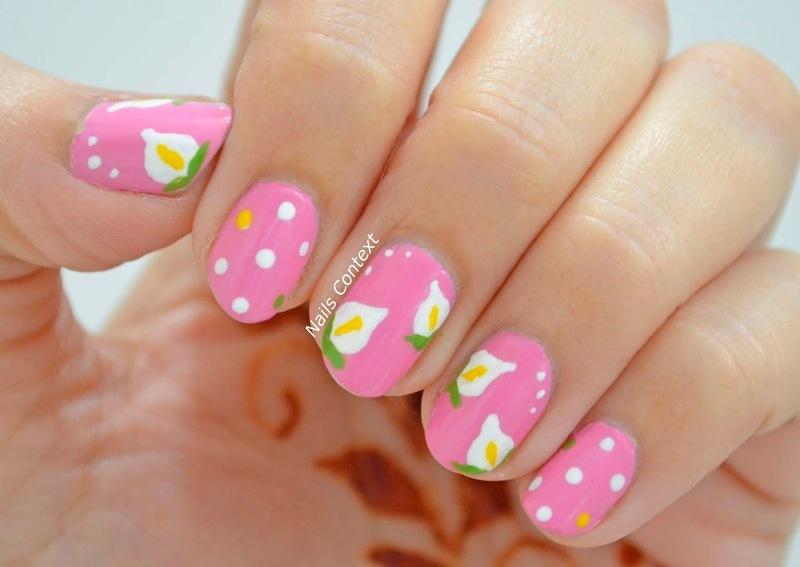 Calla Lilies nail art by NailsContext