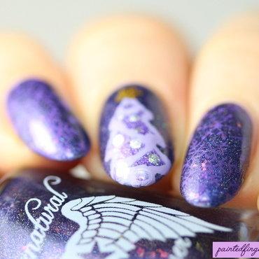 Purple Christmas nail art by Kerry_Fingertips