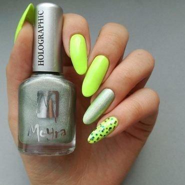 Neonowy manicure nail art by MaliNaila