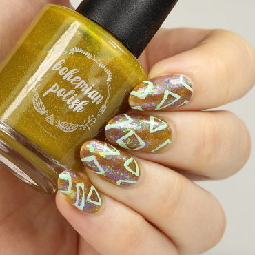 Geometric pattern nail art by Kerry_Fingertips