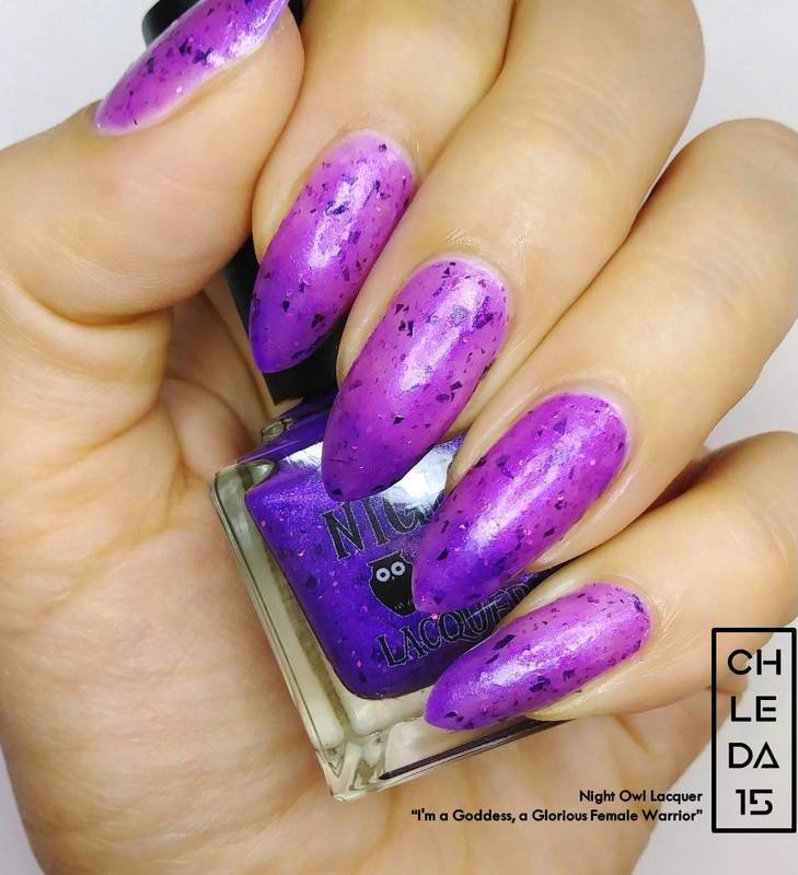 "Night Owl Lacquer ""I'm a Goddess, a Glorious Female Warrior"" Swatch by chleda15"