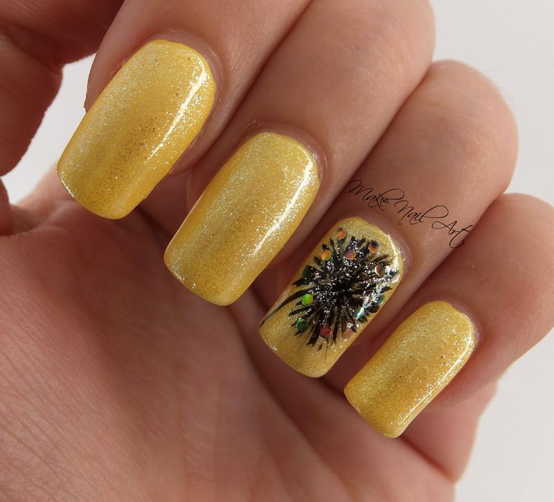 Summer Dandelion Nails nail art by Make Nail Art