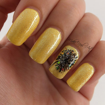Summer Dandelion Nails nail art by Make Nail Art