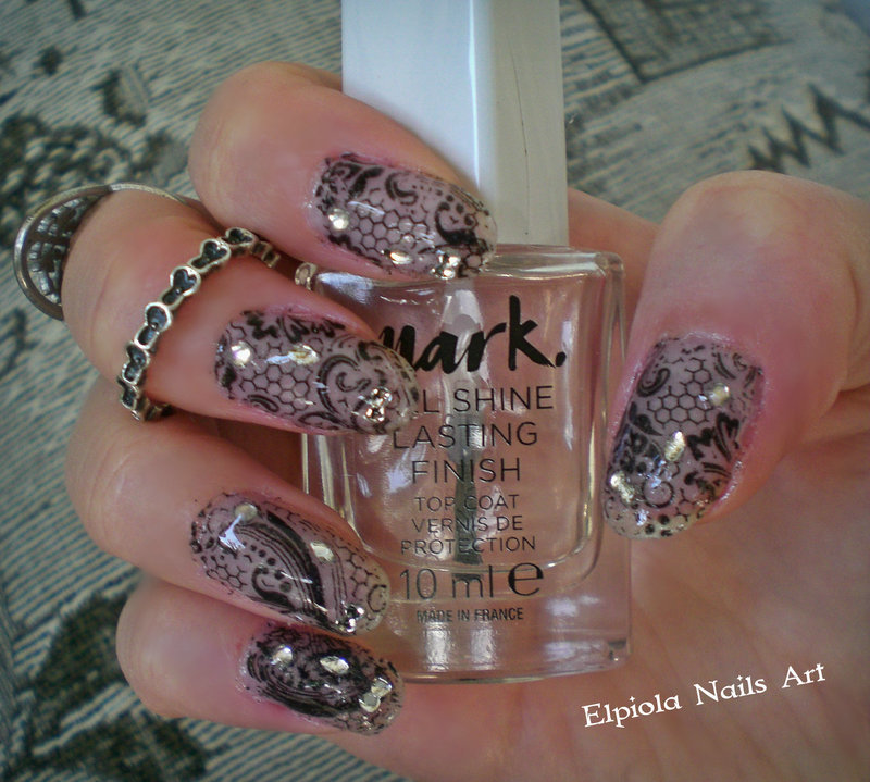 Black Lace Fantasy Nails  nail art by Elpiola Lluka