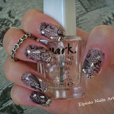 Black Lace Fantasy Nails  nail art by Elpiola Lluka