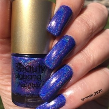 Purple Holo nail art by NinaB
