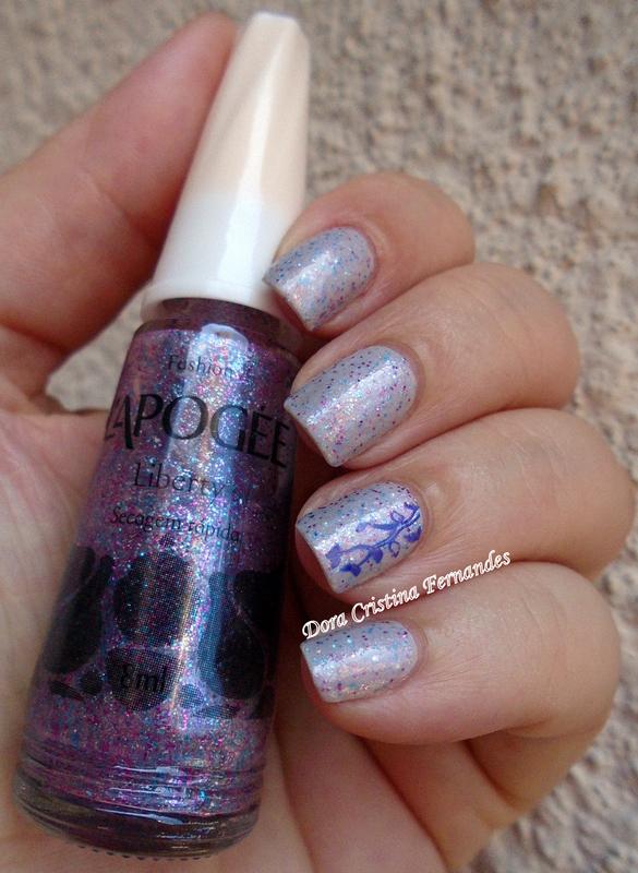 Lilactric Liberty nail art by Dora Cristina Fernandes