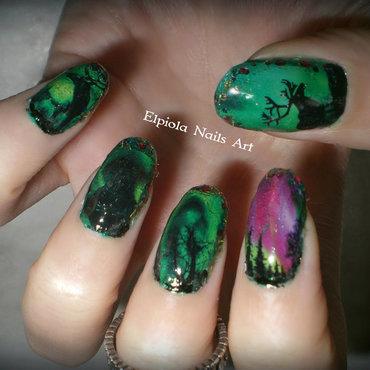 Northern Lights- Aurora Borealis nail art by Elpiola Lluka