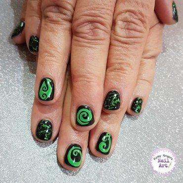 New Zealand themed nails  nail art by Funky fingers nail art