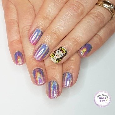 She-ra Princess of power nails nail art by Funky fingers nail art