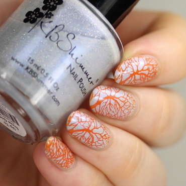 Autumn tree stamping nail art by Kerry_Fingertips
