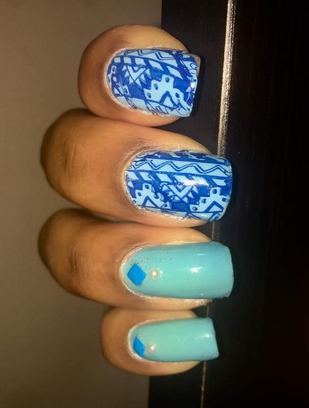 The Bluest 💙🔷🦋 nail art by Chloe Jay