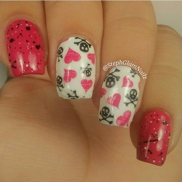 Anti-valentines Day Nails nail art by StephGlamNailz