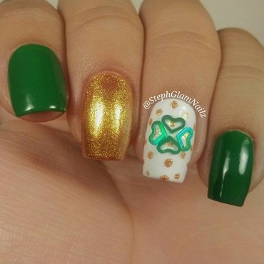 St. Patrick's Day Nails nail art by StephGlamNailz