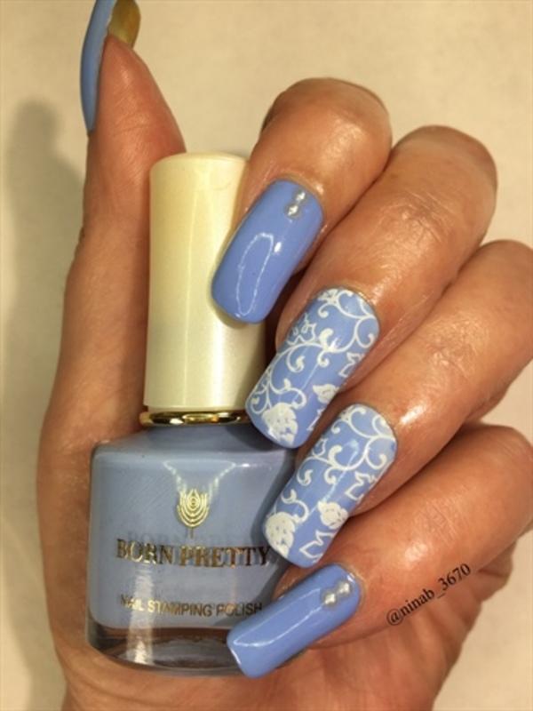 Blooming nail art by NinaB