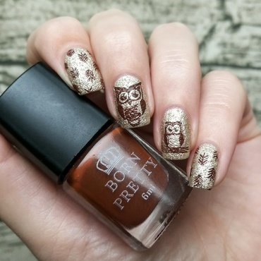 Owl nails nail art by Sanela