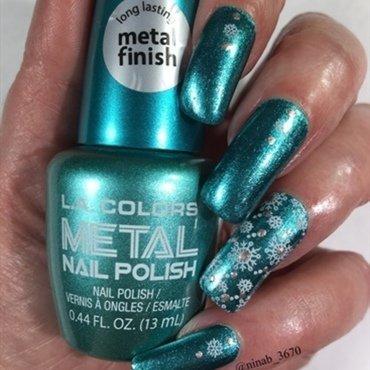 Snowflakes nail art by NinaB