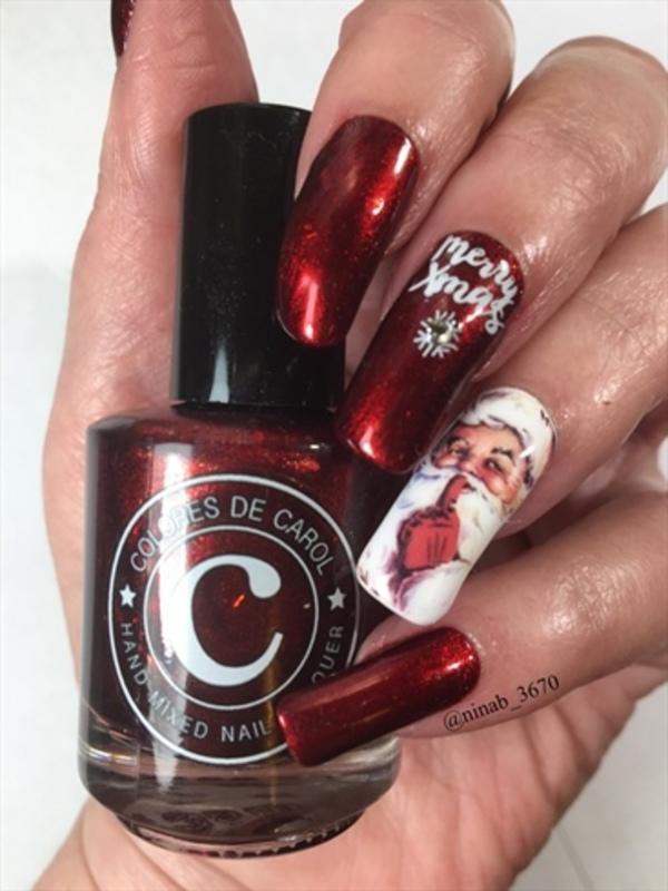 Happy Holidays! nail art by NinaB